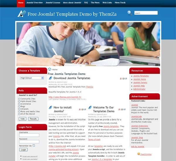 High_school_education_joomla_template