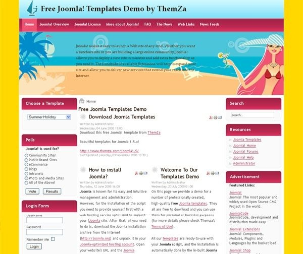 Summer_Holidays_blog_joomla_template