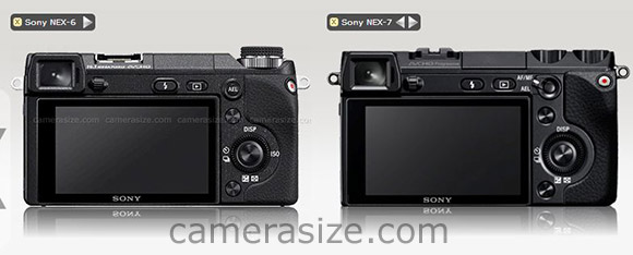 Sony NEX-6 and NEX-7 side by side (rear)