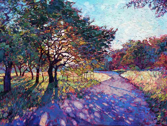 Красочные пейзажи маслом Эрин Хансон