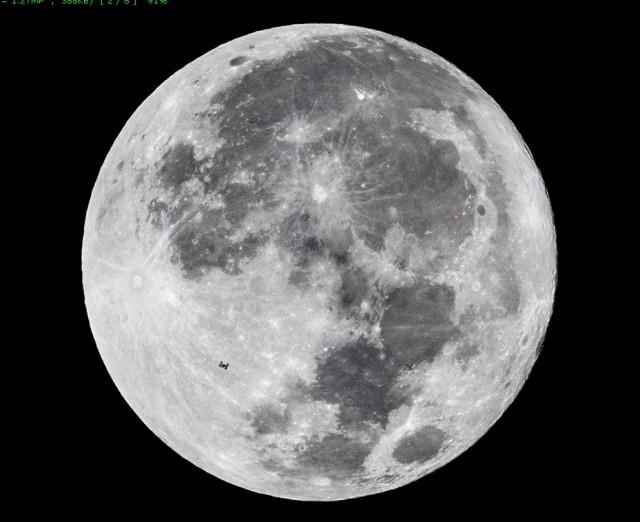 Бобровая луна и МКС