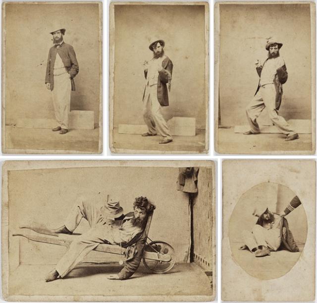 Пять стадий опьянения - веселые ретро фотографии 19-го века