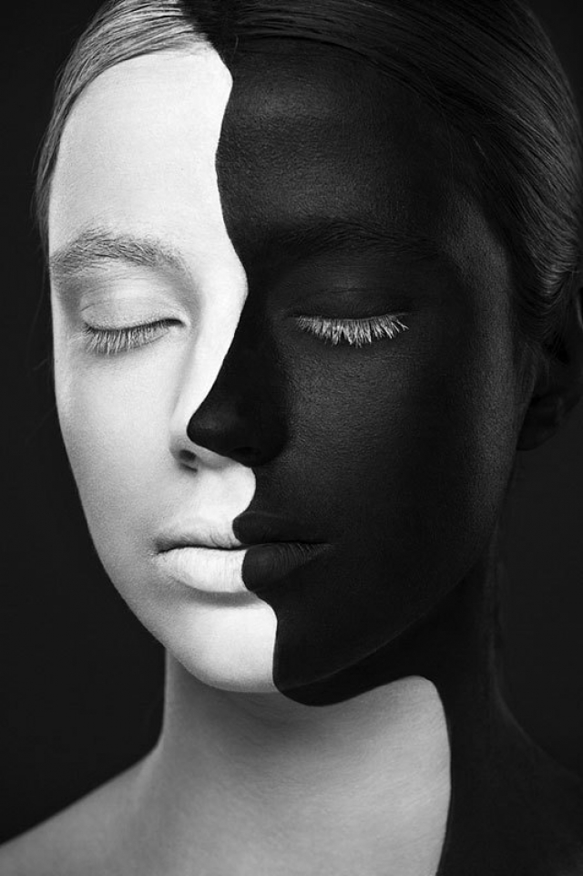 портреты фото черно-белые