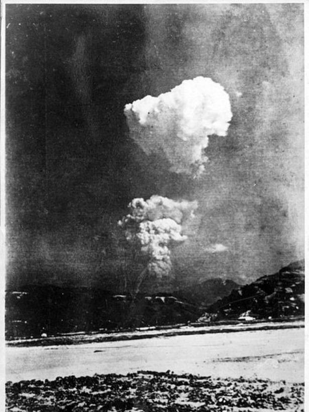 Уникальная фотография ядерного гриба над Хиросимой