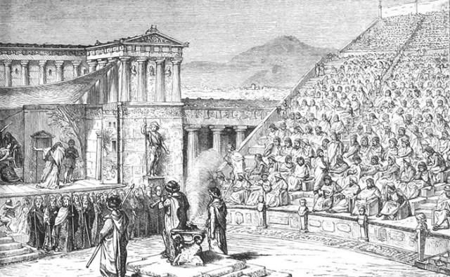 Древнегреческая комедия и трагедия