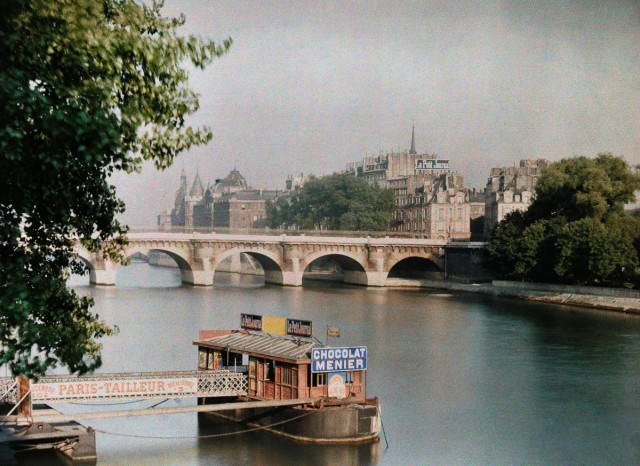 Автохромные фотографии Парижа – живописная экскурсия в 1923 год