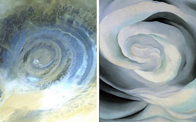 Фотографии Земли из космоса удивительно похожие на знаменитые картины