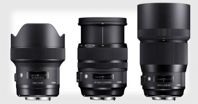 Sigma анонсирует новые объективы серии Art: 14мм F/1.8, 24-70мм F/2.8 и 135мм F/1.8