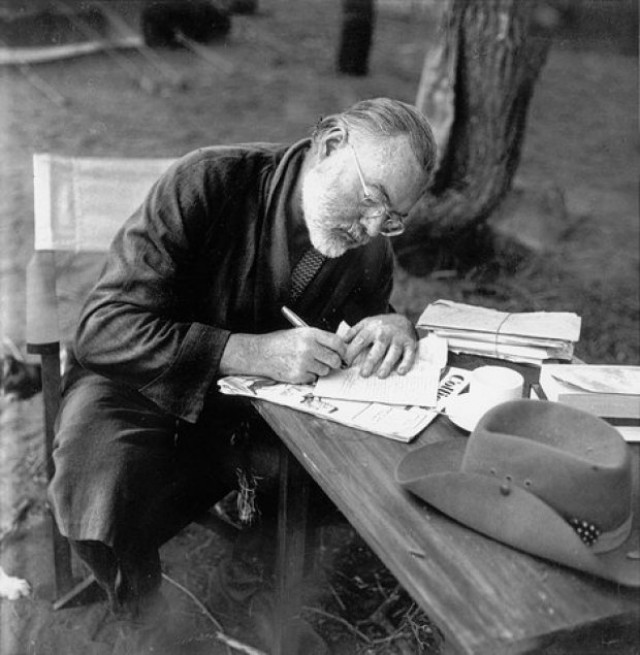 an essay on the inspirations of the author ernest hemingway Ernest miller hemingway (july 21, 1899 – july 2, 1961) was an american novelist, short story writer, and journalist his economical and understated style.