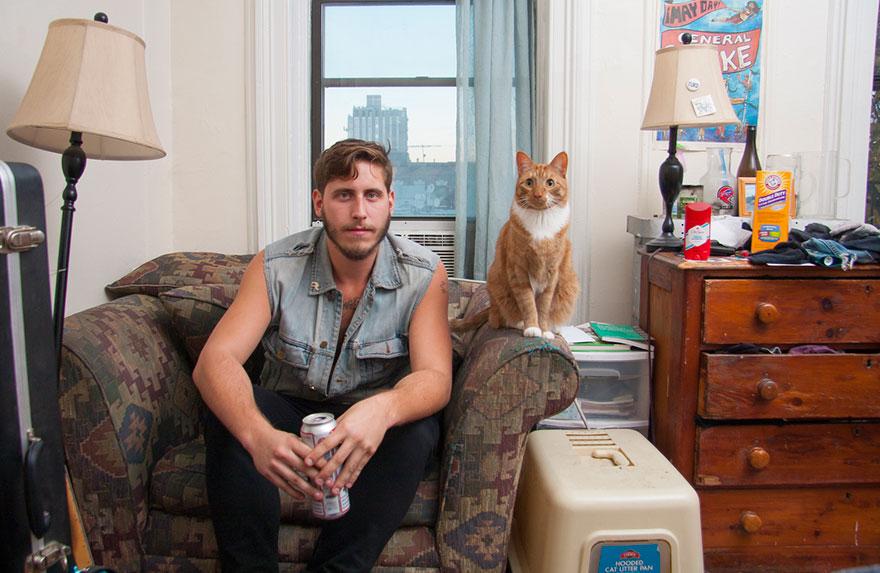 Мужчины и кошки - это очаровательно. Фотограф Дэвид Уильямс-1