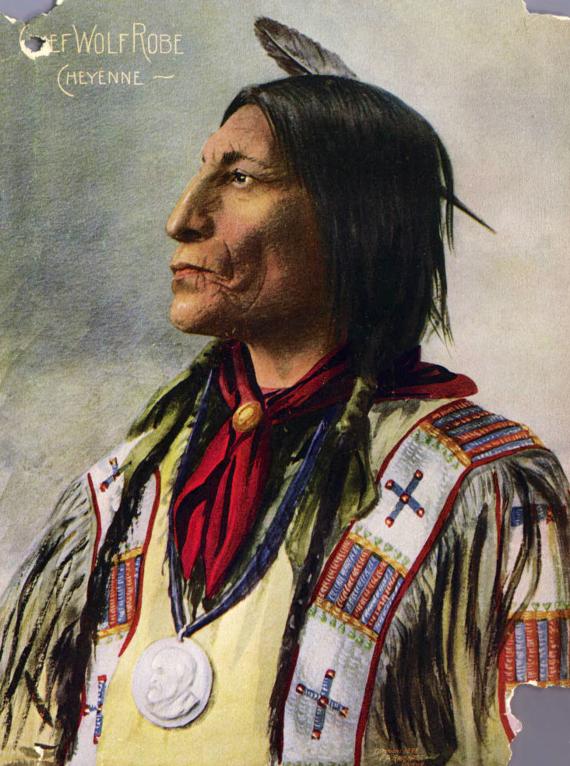 Вождь шайеннов Волчий Плащ, 1898