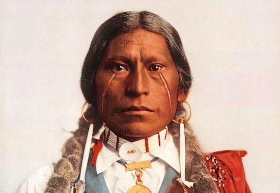 Вождь хикарилья-апачей, 1899, фотограф Уильям Генри Джексон
