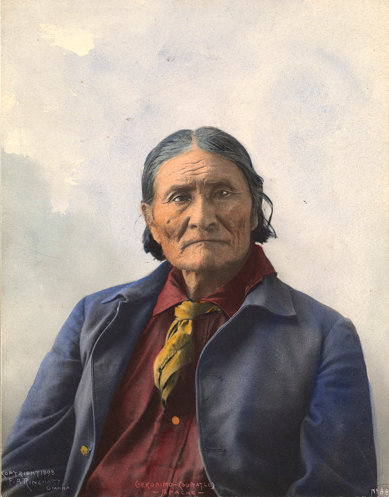 Джеронимо (Goyaale). Апач. 1898, фотограф Ф. A. Райнхарт