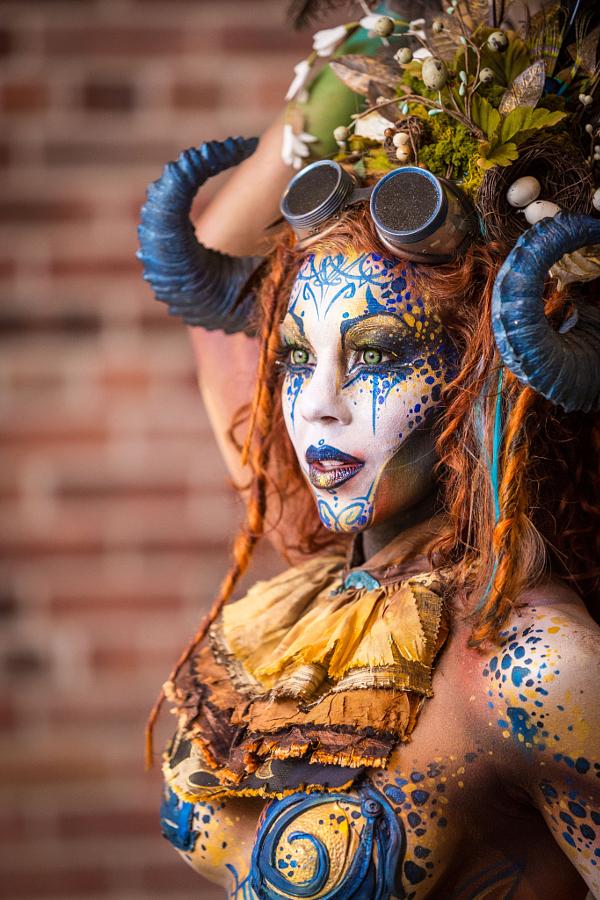 Безумный боди-арт на фестивале Circus North – 21 фото