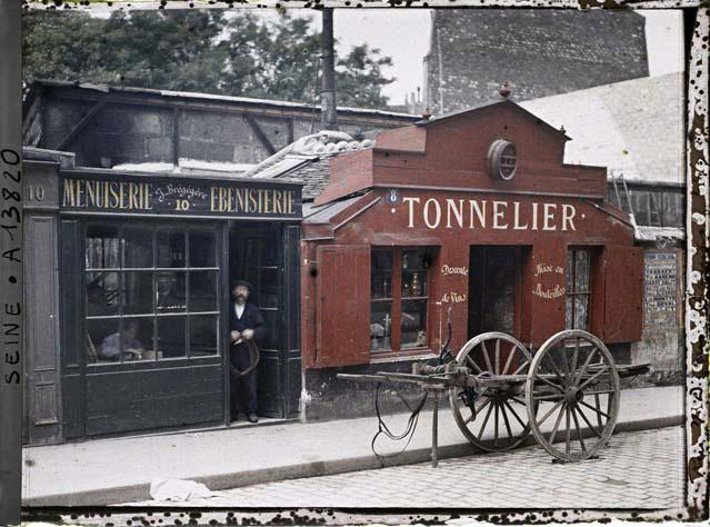 Редкие цветные фотографии Парижа начала прошлого века