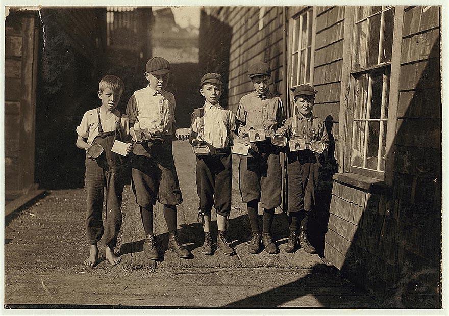 Труд американских детей в начале прошлого века – шокирующие фотографии Льюиса Хайна