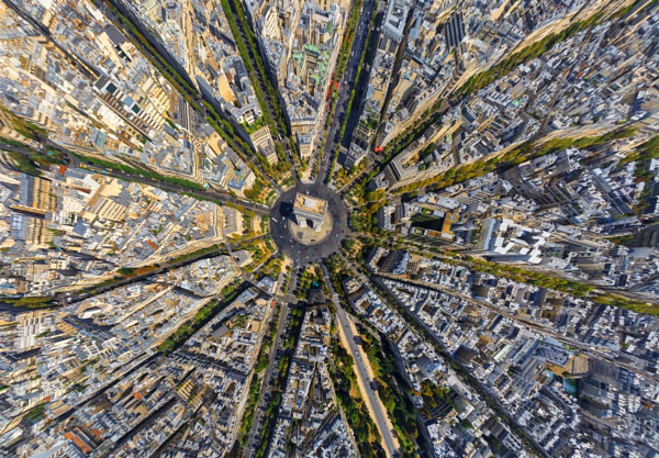 Photograph Arc de Triomphe, Paris, France by AirPano on 500px