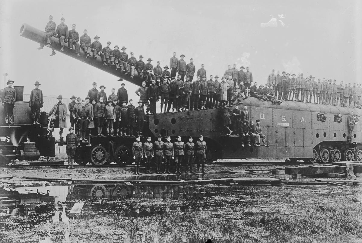 Железнодорожная артиллерия ретро фотографии - 1