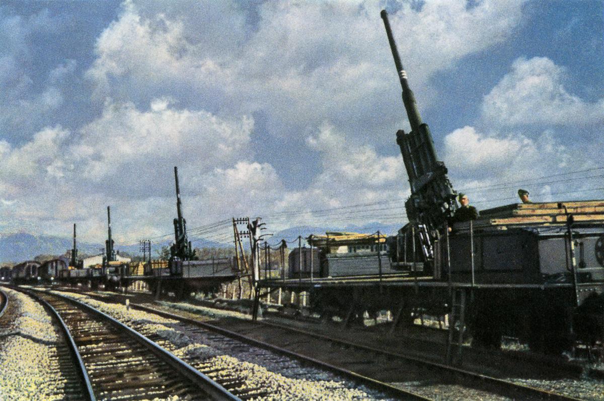 Железнодорожная артиллерия ретро фотографии - 10