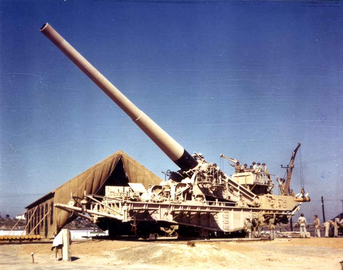 Железнодорожная артиллерия ретро фотографии - 11