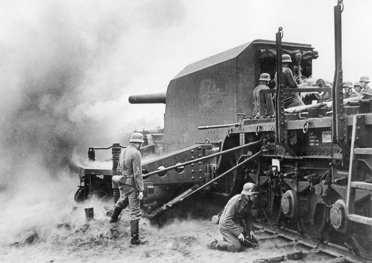 Железнодорожная артиллерия ретро фотографии - 13