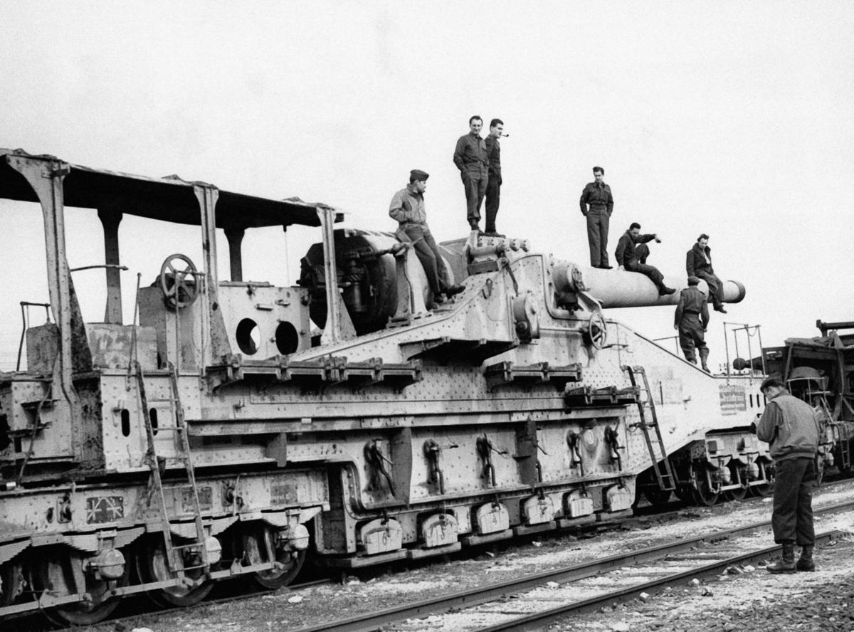 Железнодорожная артиллерия ретро фотографии - 14