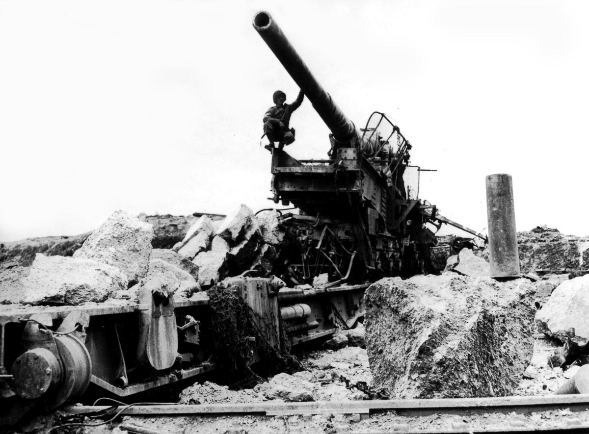 Железнодорожная артиллерия ретро фотографии - 15