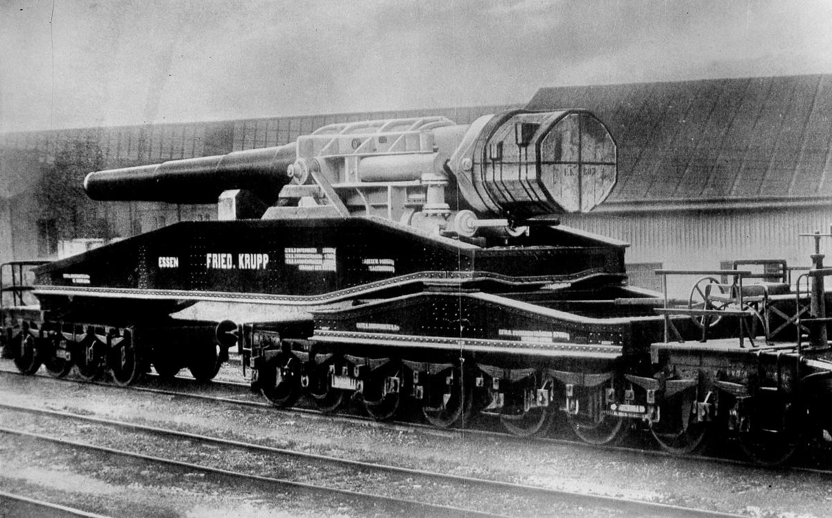Железнодорожная артиллерия ретро фотографии - 3