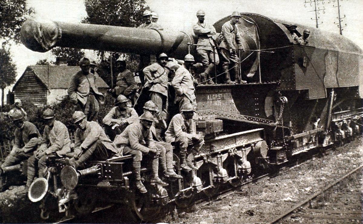 Железнодорожная артиллерия ретро фотографии - 4
