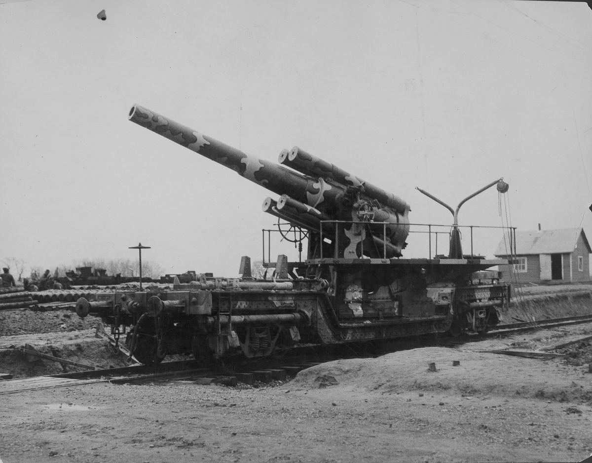 Железнодорожная артиллерия ретро фотографии - 5