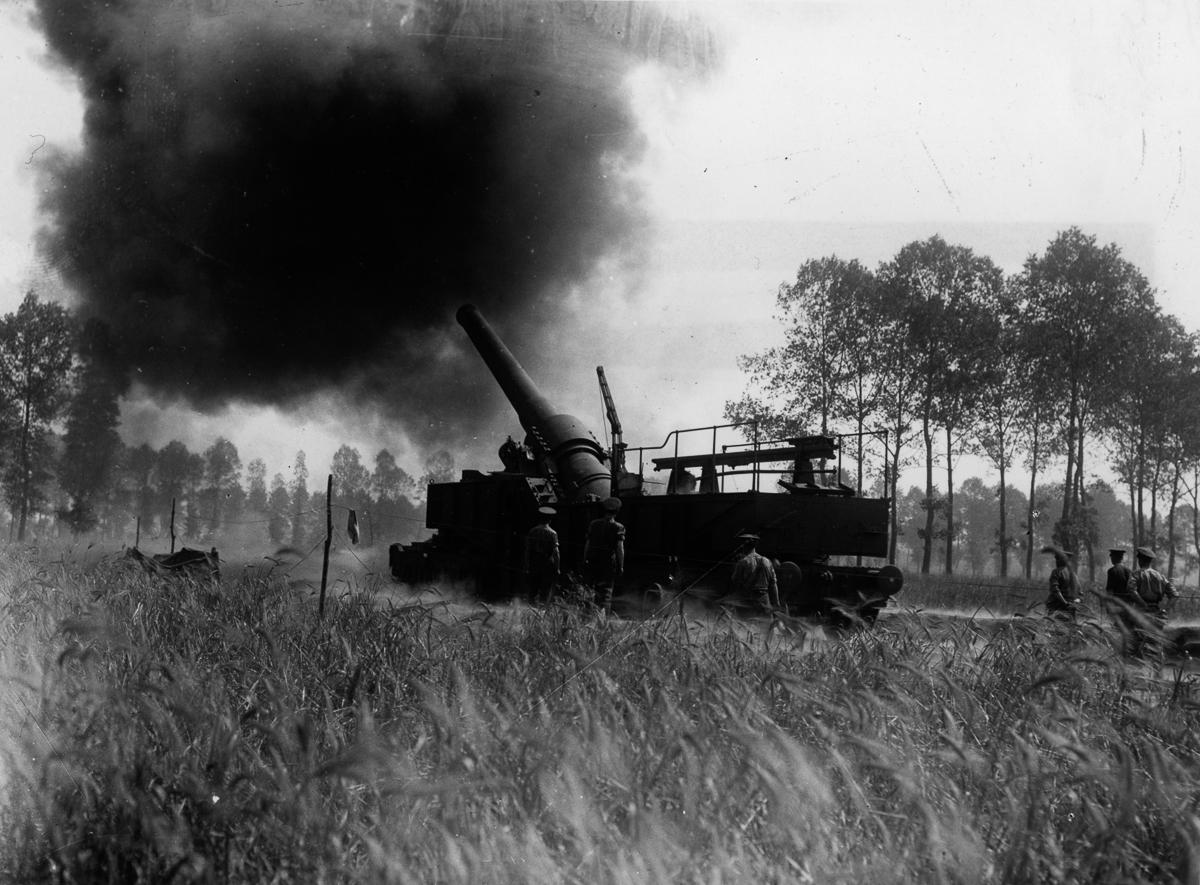Железнодорожная артиллерия ретро фотографии - 6