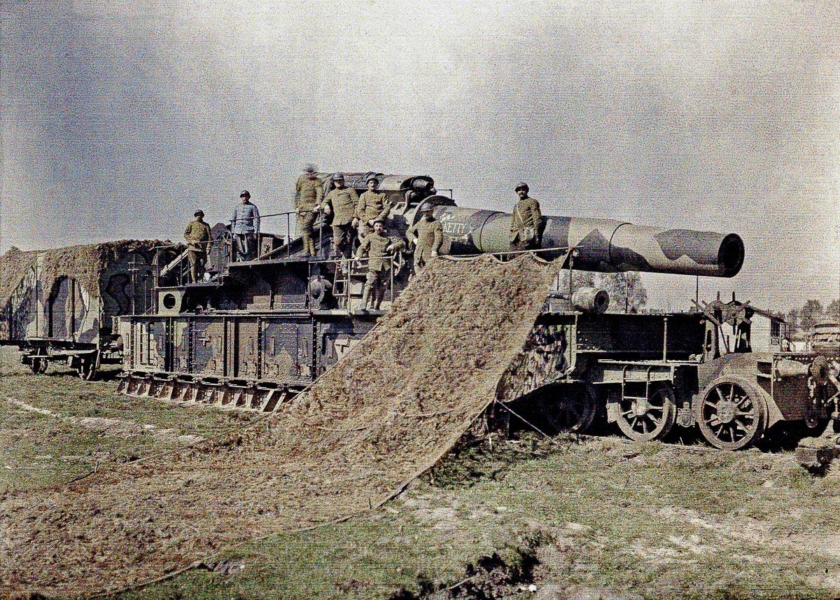 Железнодорожная артиллерия ретро фотографии - 7