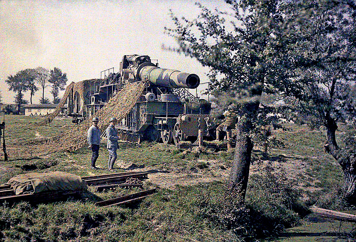 Железнодорожная артиллерия ретро фотографии - 8