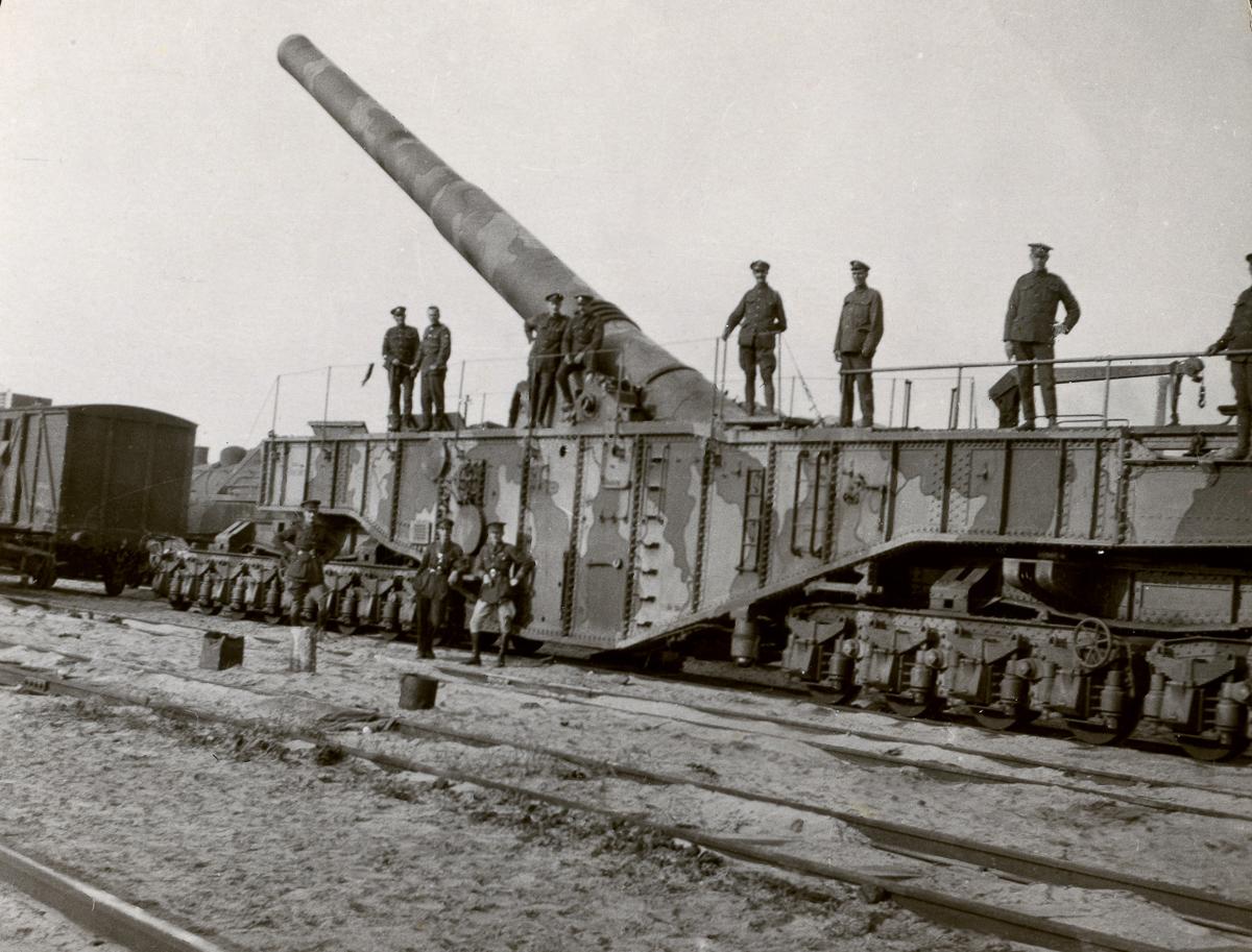 Железнодорожная артиллерия ретро фотографии - 9