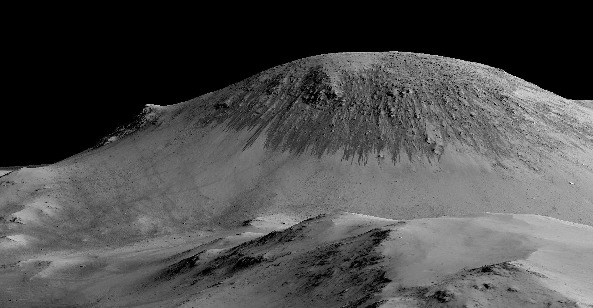 zhidkaya voda na Marse fotografii NASA 2