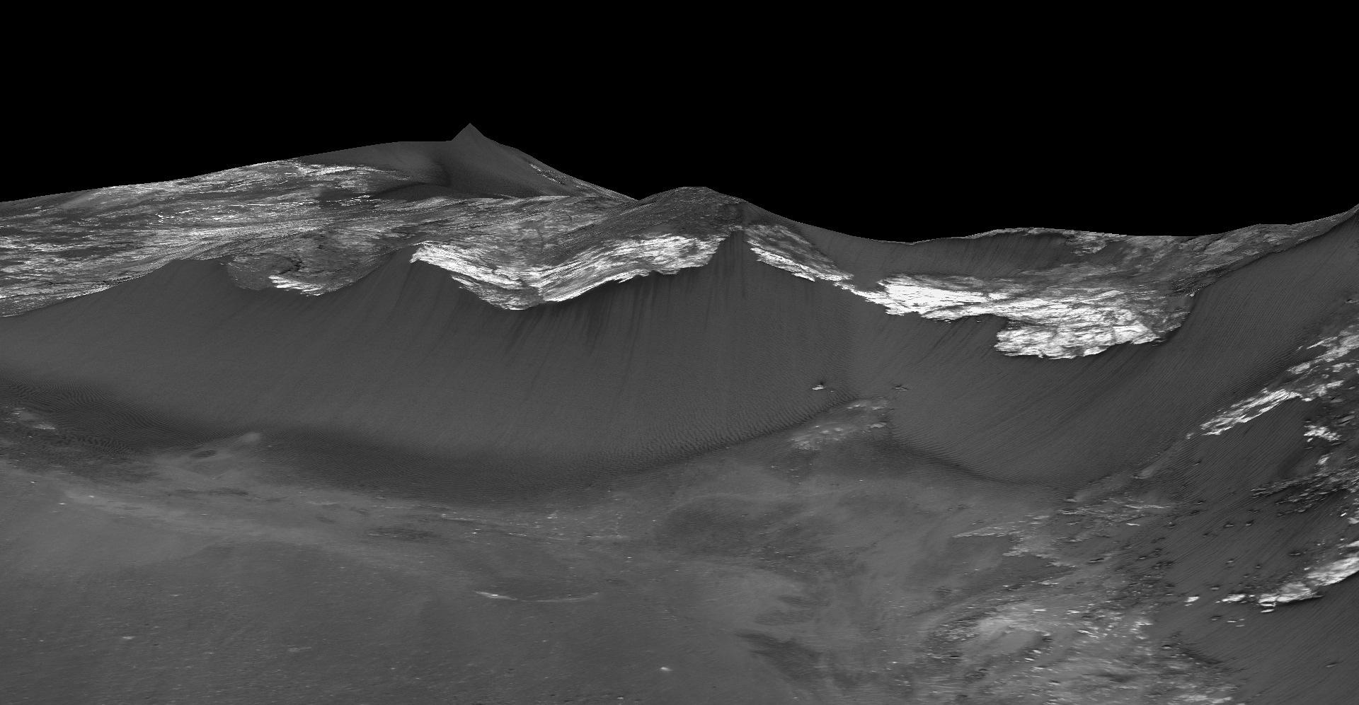 zhidkaya voda na Marse fotografii NASA 6