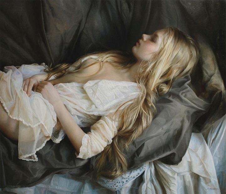 Поэзия женского тела в гиперреалистичных масляных картинах Сергея Маршенникова