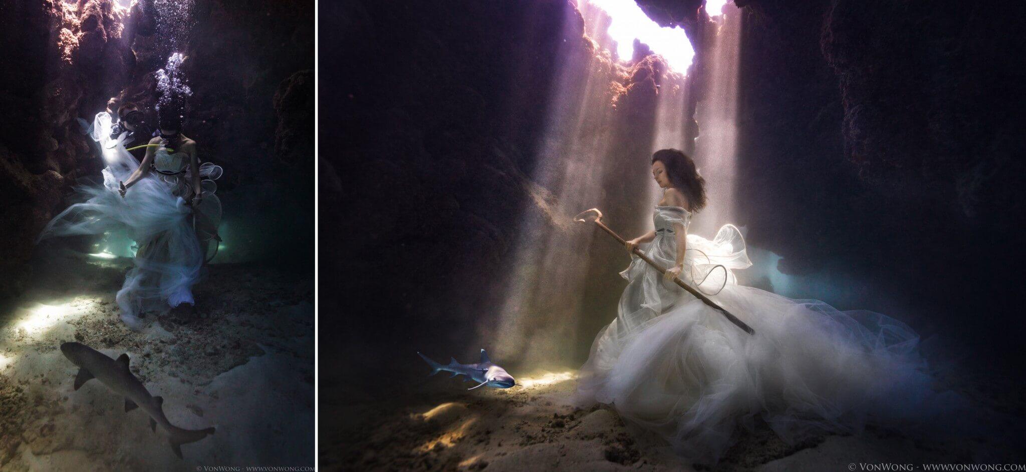 podvodnye portrety s akulami fotograf Bendzhamin fon Vong 5
