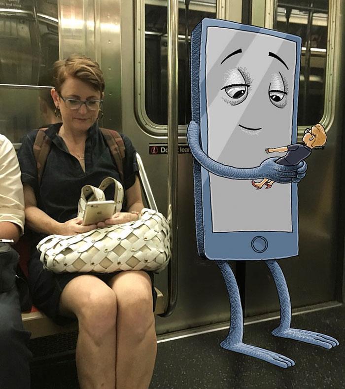 картинки человечки в метро перекликается рядом