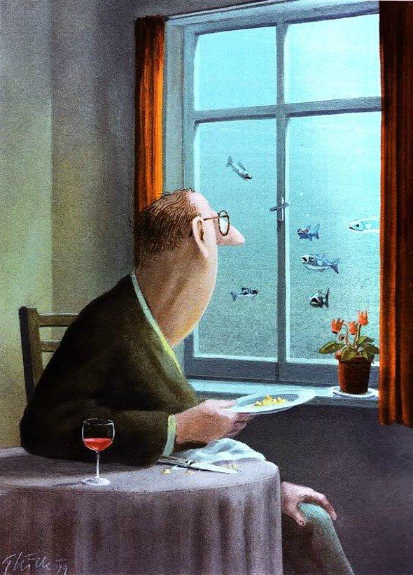 Карикатуры художника Герхарда Глюка 17