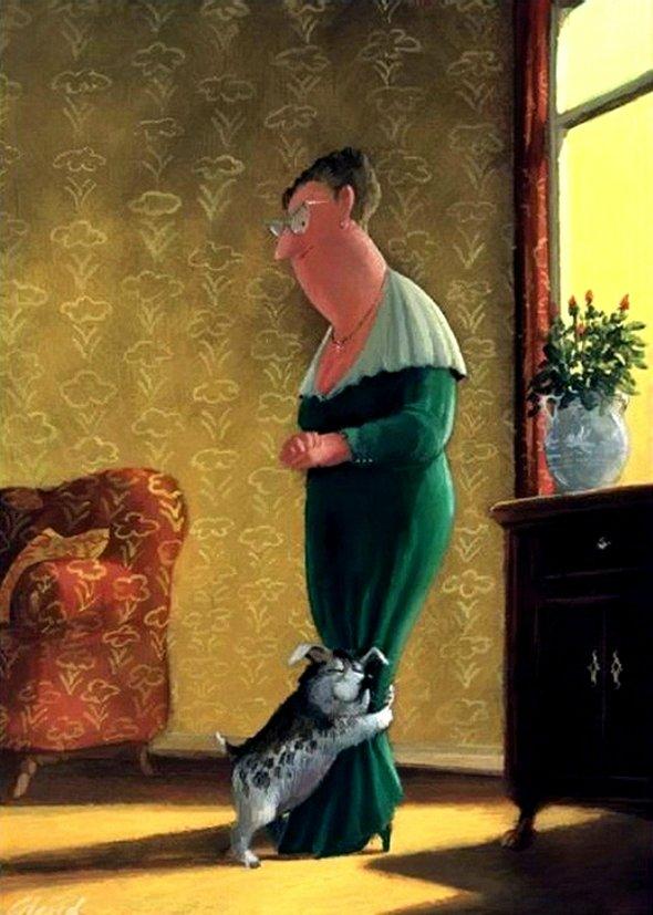 Карикатуры художника Герхарда Глюка 19