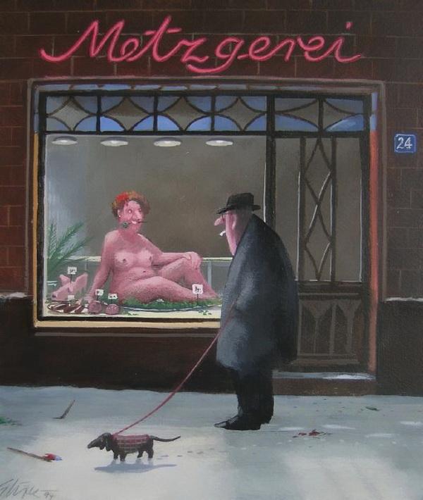 Карикатуры художника Герхарда Глюка 3