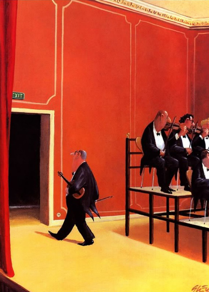 Карикатуры художника Герхарда Глюка 36