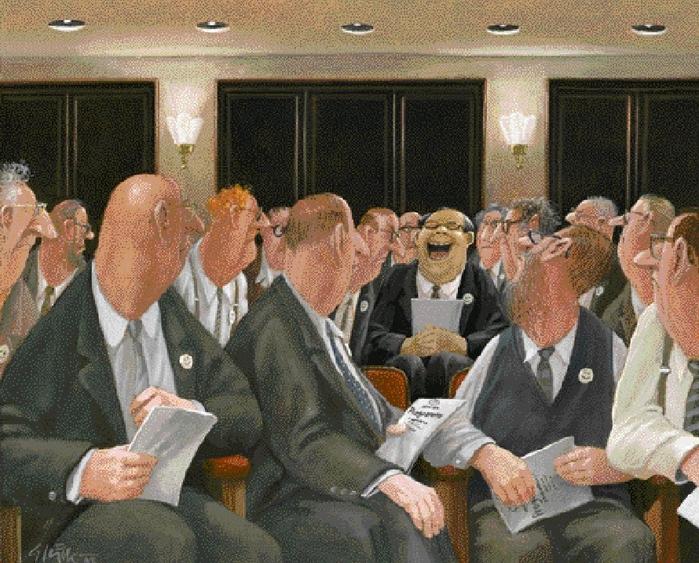 Карикатуры художника Герхарда Глюка 39