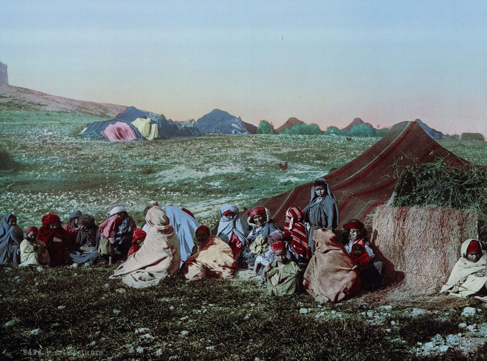 A camp of nomads Tunis