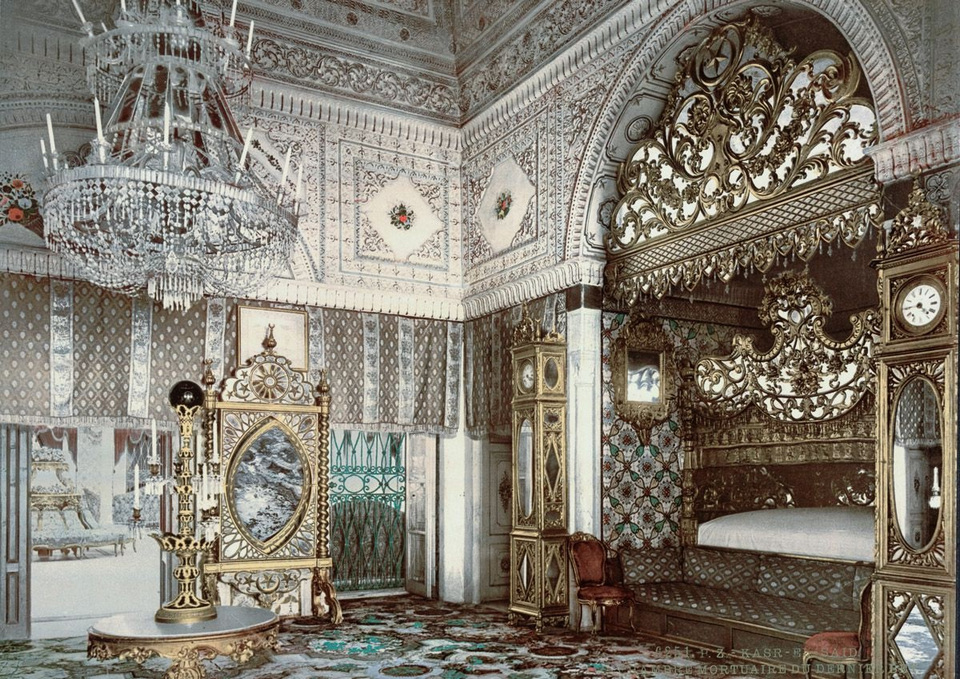 The bedchamber of the late Bey of Tunis Kasr-El-said