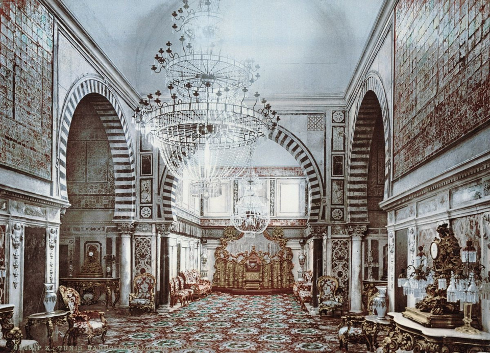 The throne room of Bardo Palace Tunis
