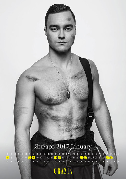 Самые сексуальные пожарные Москвы в благотворительном календаре Grazia