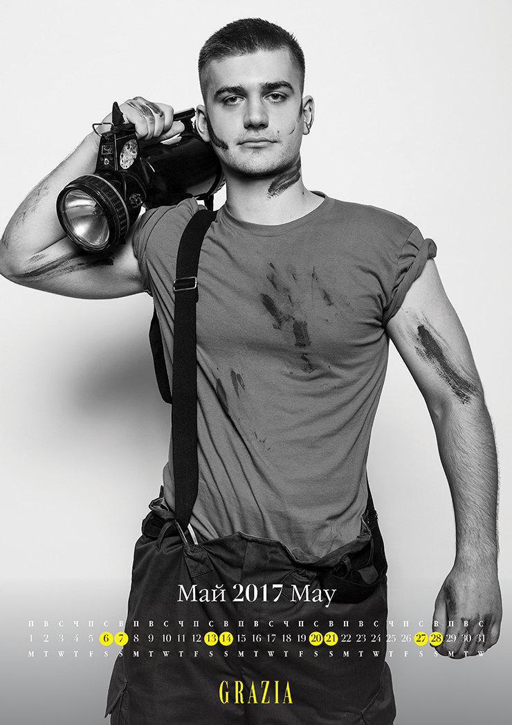 Самые сексуальные пожарные Москвы в благотворительном календаре Grazia 3