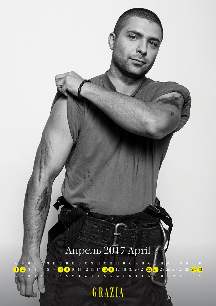 Самые сексуальные пожарные Москвы в благотворительном календаре Grazia 7